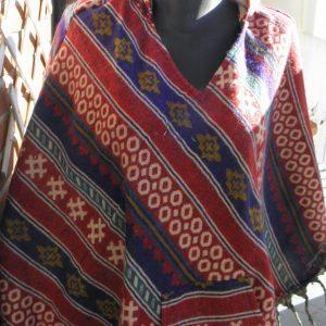 Poncho en laine de Yack PON04