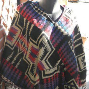 Poncho en laine de yak