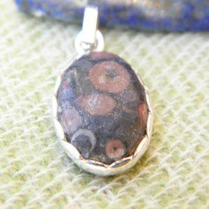 Pendentif en argent massif 925 avec une pierre améthyste PEA06