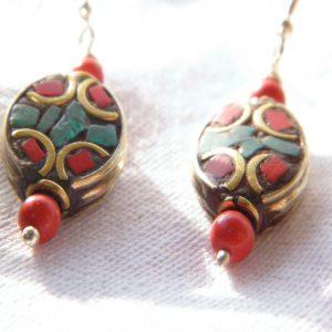 Boucles d'oreilles Tibétaines/Népalaises BDT07