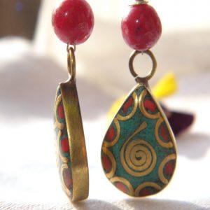 Boucles d'oreilles Tibétaines/Népalaises BDT04