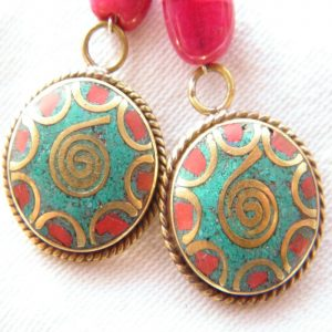 Boucles d'oreilles Tibétaines/Népalaises BDT01