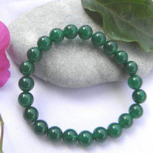 Bracelet en agate verte