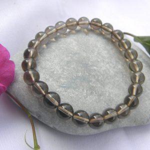 Bracelet en cristal de roche fumé