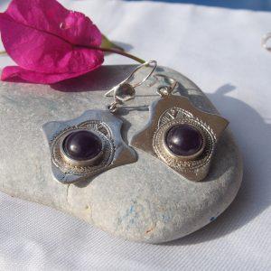 Boucles d'oreilles touaregs en argent T5