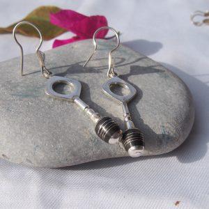 Boucles d'oreilles touaregs en argent T7