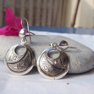 Boucles d'oreilles touaregs en argent T17