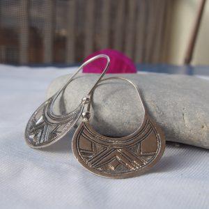 Boucles d'oreilles touaregs en argent T20