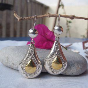 Boucles d'oreilles touaregs en argent T22