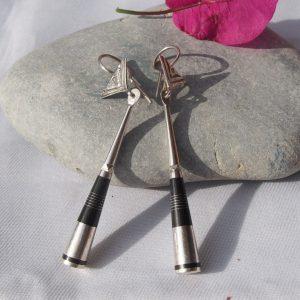 Boucles d'oreilles touaregs en argent T36