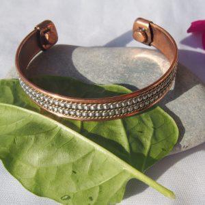 Bracelet cuivre et aimants