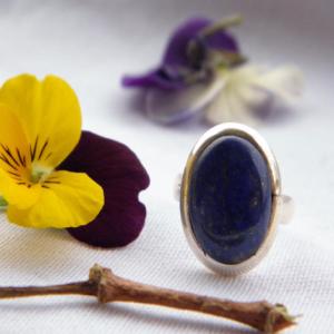 Bague en argent 925 et lapis lazuli
