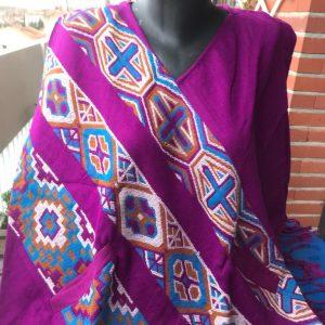 Poncho en laine de yak 5