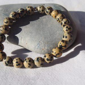 Bracelet en jaspe léopard