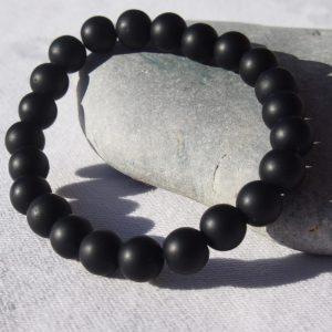 Bracelet en onyx noire